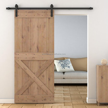 X Bruce Solid Alder Wood Sliding Barn Door with Sliding system