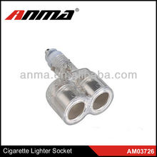 Anma brand cheap two port ac dc car cigarette lighter socket adapter