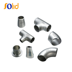 High Pressure Pipeline Welded Stainless Steel Buttweld Pipe Fittings Bevel Ends
