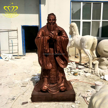 life size metal bronze China confucius statues sculptures