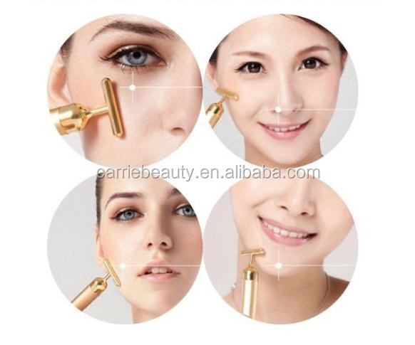 24k Gold Beauty Bar Deeply Cleaning Massage Facial Beauty Facial Massager