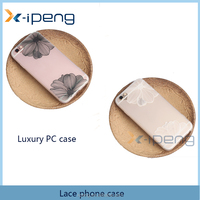 Black Lace style holder TPU half transparent mobile phone case cover for huawei y5 ii