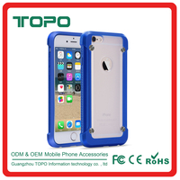 Shockproof cell phone cover For Apple iPhone 6 6s plus Protective Transparent Slim Case TPU Bumper + Acrylic PC Anti-Scratch