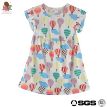 Conice nini brand hot selling lovely hot air balloon boutique outfits frocks girl design baby party cotton dress