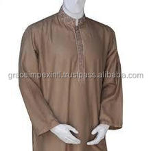 A Custom Mens Shalwar Kameez Suits,GI_7507 High quality fashion mens kurta/KURTA AND SHAWAR WITH EMBROIDERY/kurta shalwae