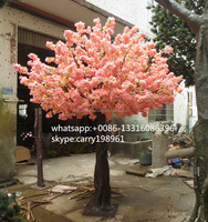 Romantic artificial cherry blossom tree,fake cherry tree decoration,fake cherry tree for wedding
