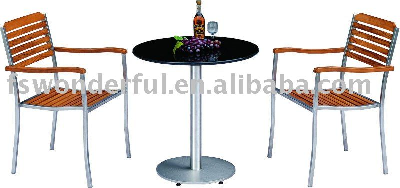 WF-2105 stainless steel table and chair