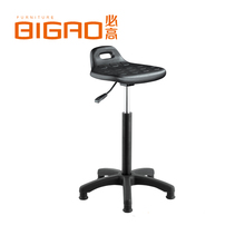 Lab Seat Shop Stool Height Adjustable Swivel Chair Rolling Wheel Salon Black