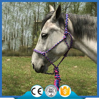 H2003 Braid Rope adjustable Horse Halter/headcollar with lead rope