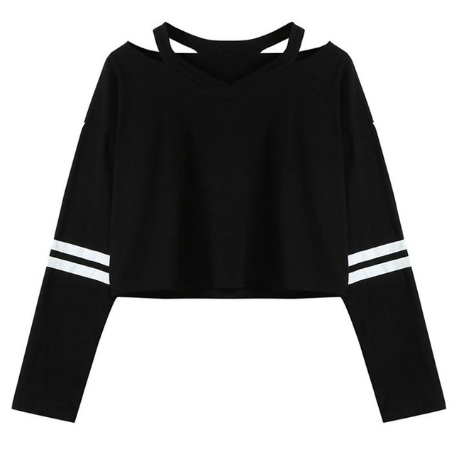 Popular Womens Clothes Long Sleeve hoodie Sweatshirt V Neck Causal hoodie Tops Blouse Beautiful New Fashion Style