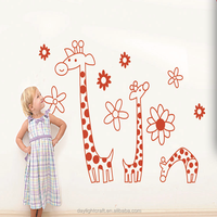 transparent animal decor /kids room sticker/ giraffe living room wall sticker