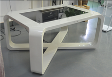 "customed 32"" 42"" touch screen arched oblong table tea table"