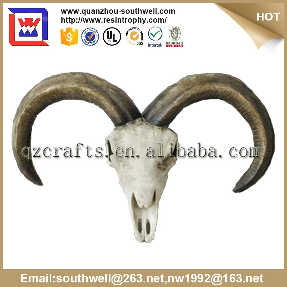 resin animal skull and decorated animal skull and resin sheep skull for home decoration