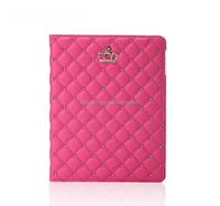 New design leather case with stand for ipad 3 ipad 4, Flip crown leather case for ipad 4