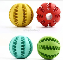 2015 multicolor dog ball toy manufacturers for dog teeth / dog treat ball