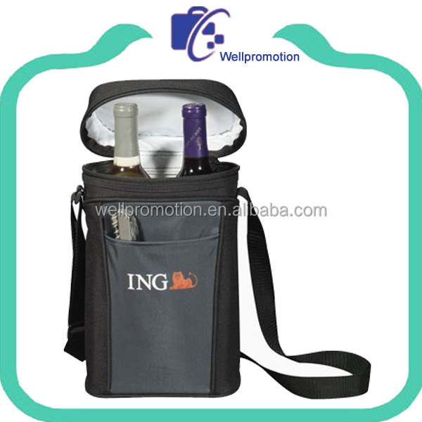 Wholesale polyester insulated ice bag wine cooler bag