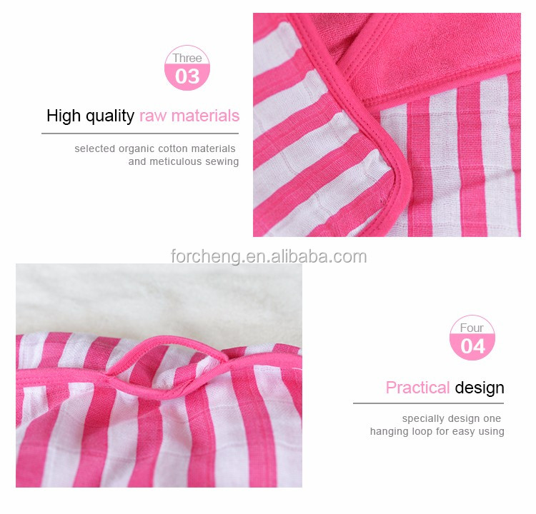 Eco-friendly 100% Organic Cotton baby towel hooded