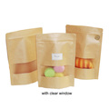 Food Grade Kraft Paper Bag with Window and Zipper for Sweetmeats