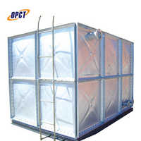 500 liter zinc panel hot-dipped galvanized pressed steel water tank