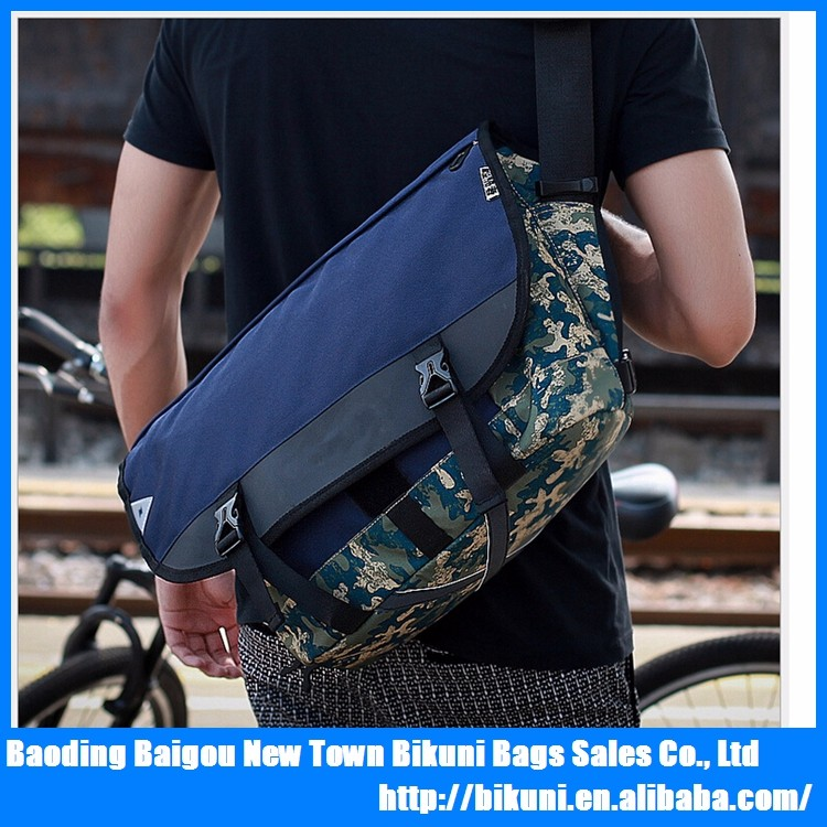 New fashion nylon leisure laptop riding camo colorFixed Gear messenger pack bag