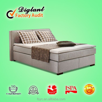 european style electric boxspring bed