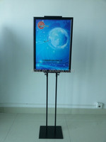 Free Shipping Adjustable Height Floor Metal Poster Stand Poster Display Banner Stand Sign Stand