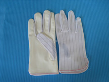 ESD PU coated stripped gloves