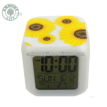 Desktop Retro Plastic Digital Table clock, Weather Station Digital Calendar Clock