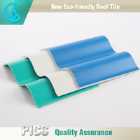 Exceptional Waterproof Building Material Corrugated Sheet PVC Roof Tile