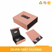 Wholesale empty logo priniting paper flat folding gift box
