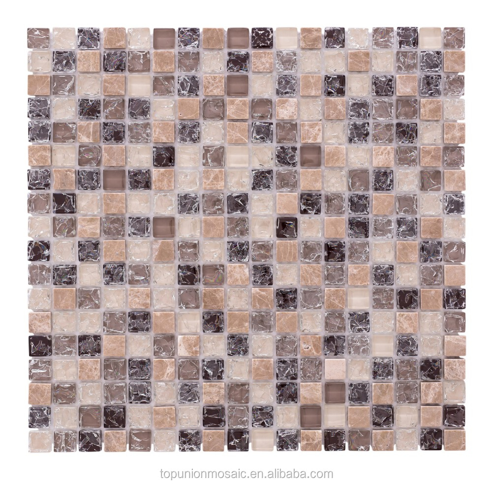 Factory supply mixed stone glass mosaic tile for home decoration
