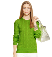 New silk cashmere sweater thick needle women autumn and winter sweater high - end skin - borne twist twisted - rope sweater