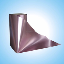 Biaxially Oriented Polypropylene Rose gold bopp aluminium thermal laminated plastic stretch film roll