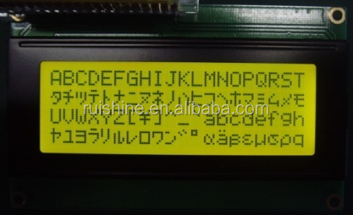 Yellow-Green positive matrix 20x4 Character LCD Display