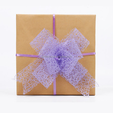 Floral Mesh Ribbon Pull Bows Decoration Gift Wraps Package Bows