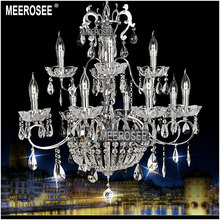Silver Color Candle Bulbs Chandelier Crystal Chandelier Lamp Home Lighting MD6646