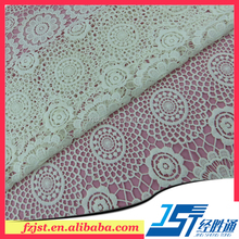 Wedding dress african organza lace fabric wholesale for bridal gown
