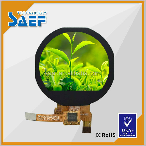 1.22 inch ips lcd module smart watch LCD with round panel built in capacitance touch screen 240 * (RGB )*204