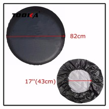 for Jeep Universal Spare Wheel Tire Cover 17 Inch Car PU Leather Wheels Tire Protector Covers Sun Shade Dust-Proof