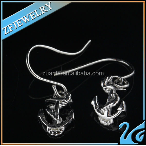 2014 high quality silver indian christmas display clip on earrings