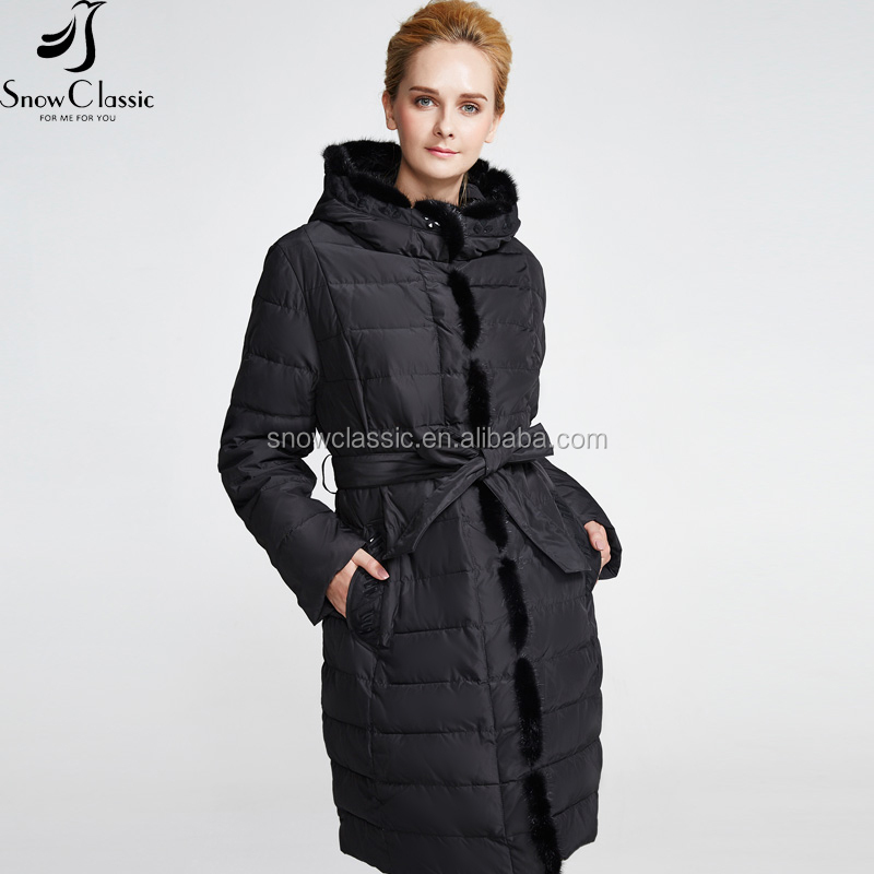 China Sex Stylish Real Fur Waterproof Ultra Light Thin Foldable Down Jacket For Winter Female