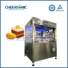 automatic cake cutting machine ultrasonic round cake slicing machine
