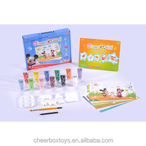 colorful 12 colors finger paint with EU EN71-9 standard and non-toxic finger painting