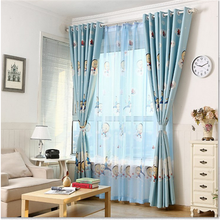 Cartoon balcony waterproof curtains eyelet machine one way vision curtains for the kids room