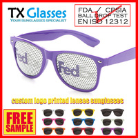 custom logo printed lenses sunglasses