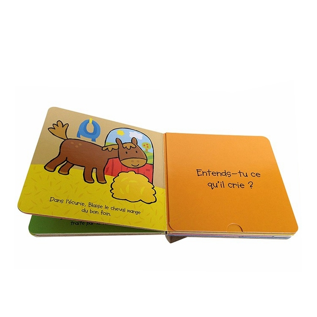 Die cut book, printing English child books for kids