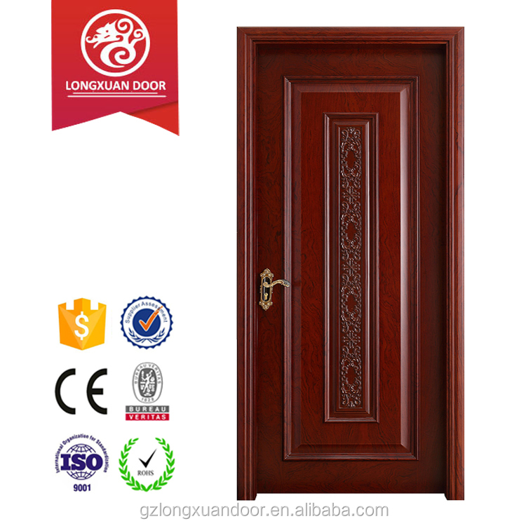Antique style fire rated tested interior wooden door used for hotel room, residential inner house entry application