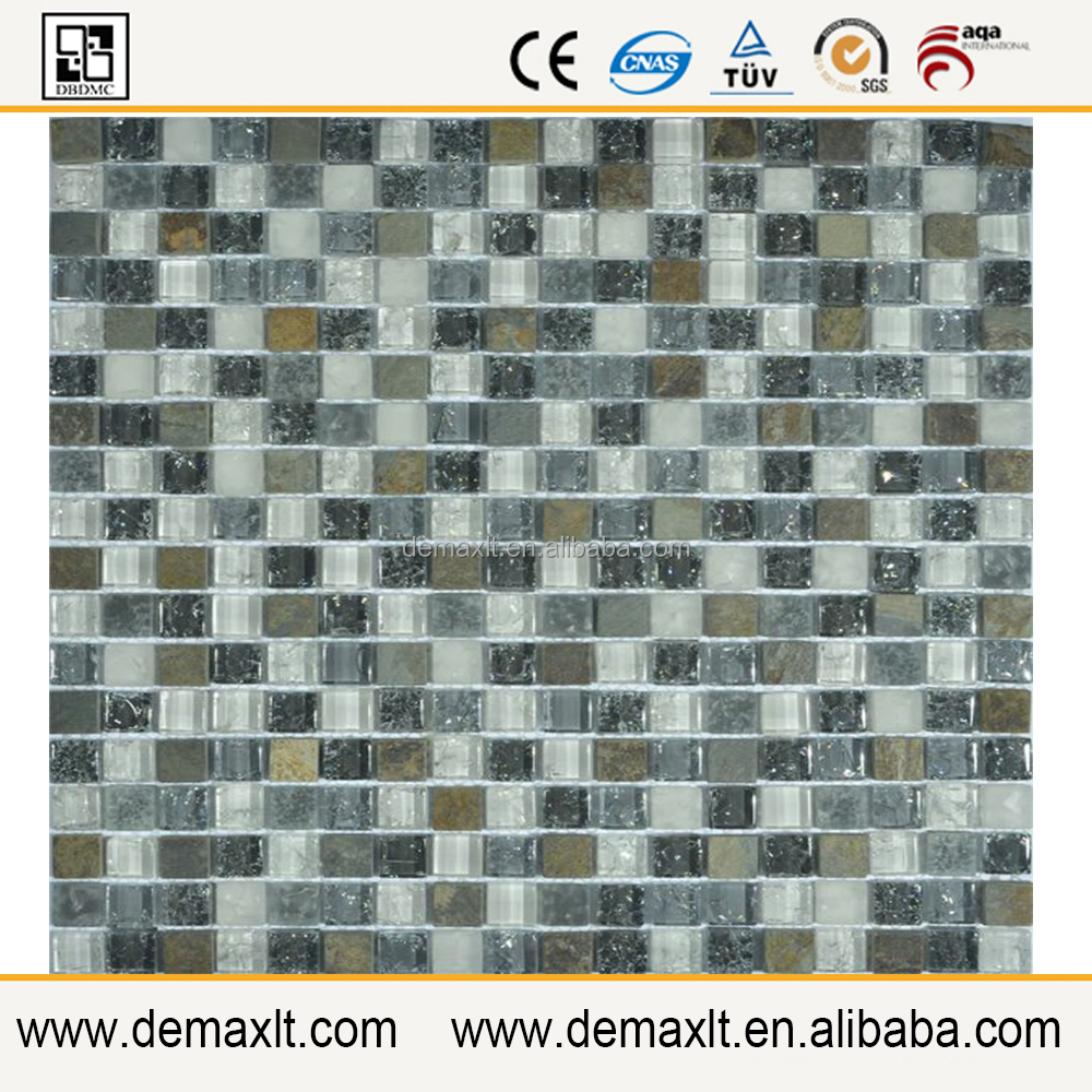 Thought good construction material for wall decoration marble mosaic glass mosaic mix