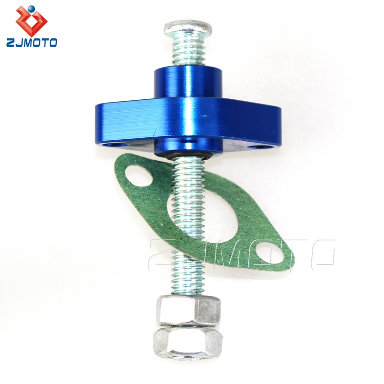 Pazoma High Quality CNC Aluminum Blue Motorcycle Manual Cam Timing ATV Chain Tensioner For 04-08 FZ6 600