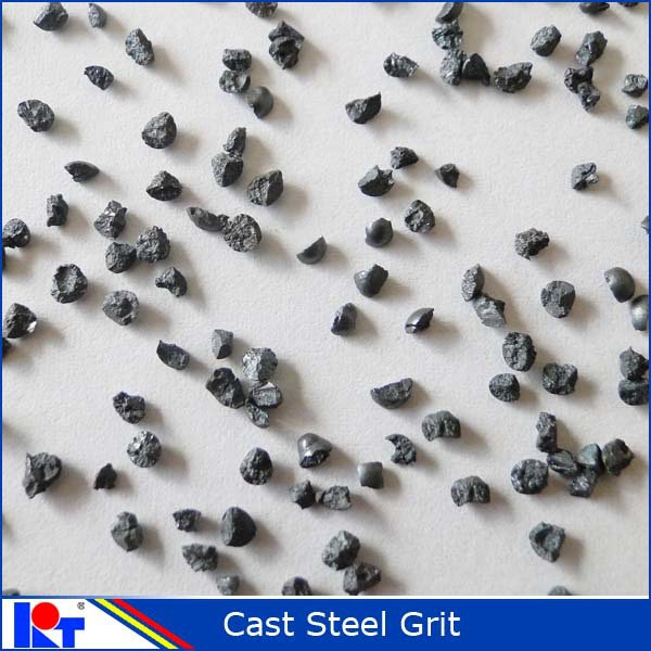 Shandong Kaitai supplies fine quality shotblasting steel grit gl14 / steelgrit 1.7mm / standard ISO SAE metal abrasive